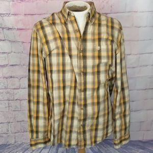 Timberland mens plaid shirt size large
